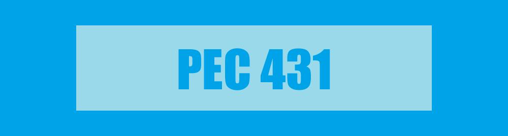 BANNER PEC 431